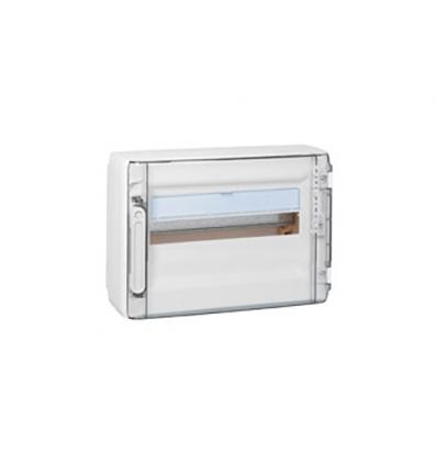 Legrand opbouwkast 1 rij-18 mod. doorzichtige deur - XL³ 125