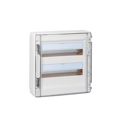 Legrand opbouwkast 2 rijen-36 mod. doorzichtige deur - XL³ 125