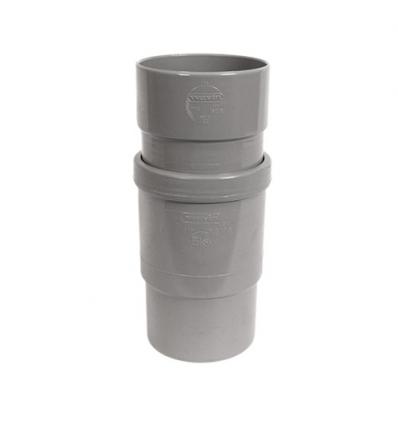 Wavin wadal pvc uitzetmof mof/spie grijs 125mm lijm