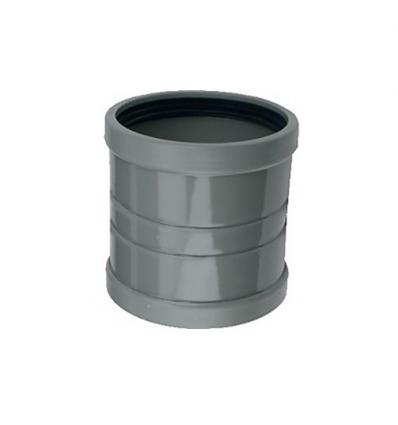 Wavin wafix pvc overschuifmof grijs 200mm