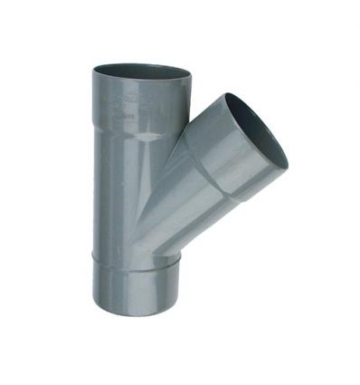 Wavin wadal pvc T 2xmof/1xspie 45° grijs 50x50mm lijm