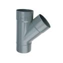 Wavin wadal pvc T 2xmof/1xspie 45° grijs 90x90mm lijm