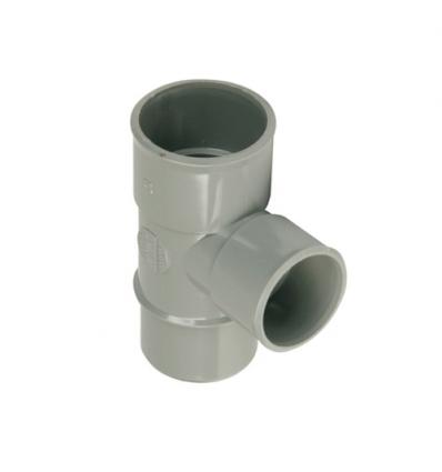 Wavin wadal pvc T 2xmof/1xspie 88° grijs 50x50mm lijm