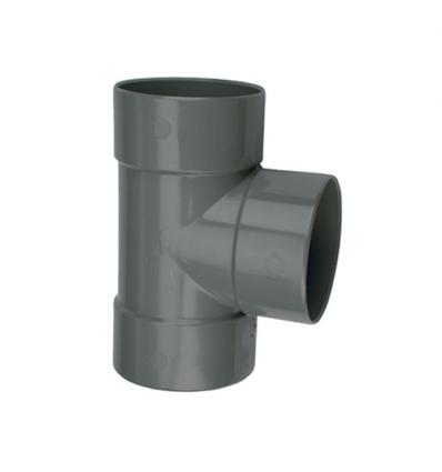 Wavin wadal pvc T 3xmof 88° grijs 75x75mm lijm