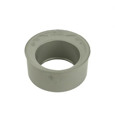Wavin pvc inzetverloop (lijm) grijs 75x50mm