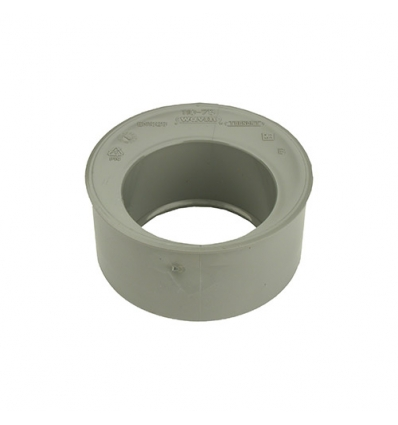 Wavin pvc inzetverloop (lijm) grijs 50x32mm