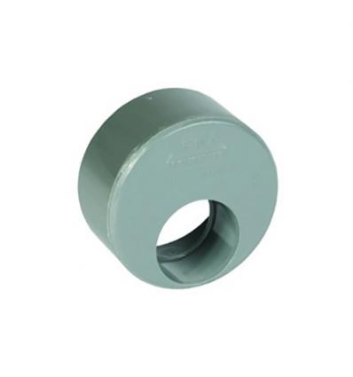 Wavin pvc inzetverloop in buis diam 110/3,2 (lijm) grijs 110x40mm