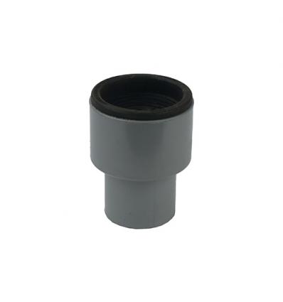 Wavin pvc overgangsstuk (lijm) pvc/metaal, incl rub 40/40mm