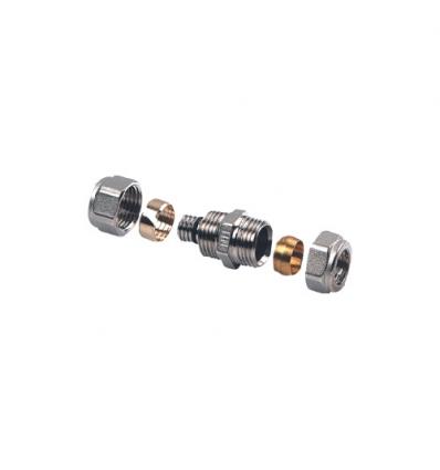 Henco doorverbinder rechte schroefkoppeling x koperbuis 16x15mm