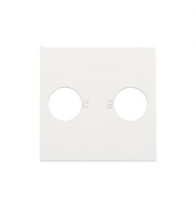 Niko centraalplaat voor coax-aansluiting EDU TV + FM, wit