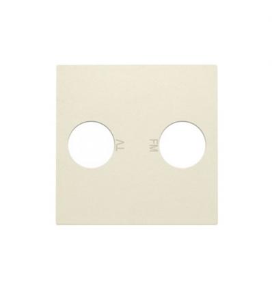 Niko centraalplaat voor coax-aansluiting EDU TV + FM crème