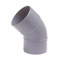 Wavin pvc bocht mof/spie 45° grijs 50mm lijm