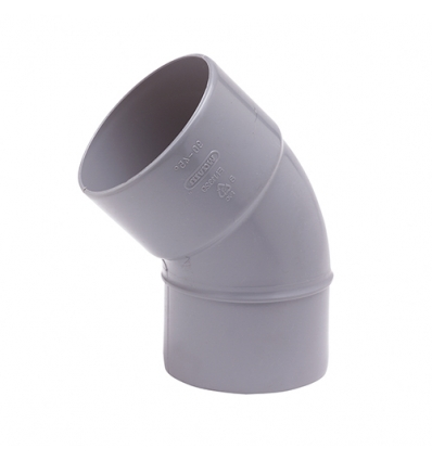 Wavin pvc bocht mof/spie 45° grijs 110mm