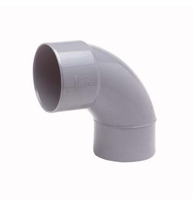 Wavin pvc bocht mof/spie 88° grijs 75mm