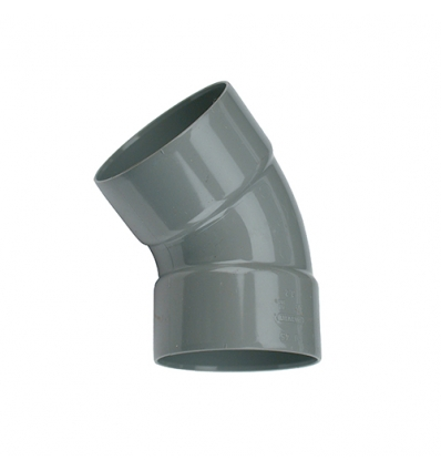 Wavin pvc bocht 2x mof 45° grijs 110mm