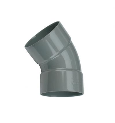 Wavin pvc bocht 2x mof 45° grijs 75mm