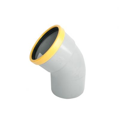 Wavin pvc bocht mof/spie 45° grijs 160mm