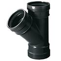 PP T-stuk 45° FFF zwart